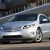 Chevrolet Volt 2011, de couleur argent, vue de devant